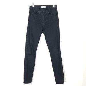 "Madewell 9"" High Rise Skinny Jeans Black"